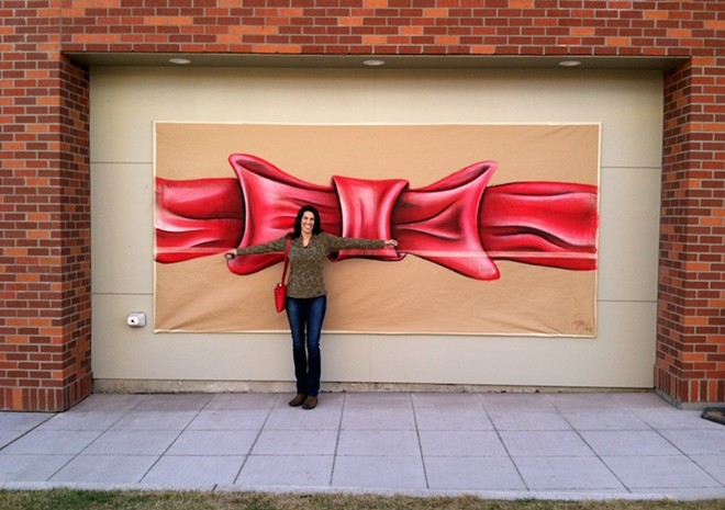 Melissa Cole in front of Marmot Art Space