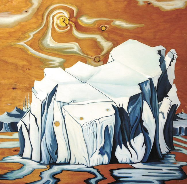 """Meltdown"": one of Lori LaBissoniere's many snow paintings."