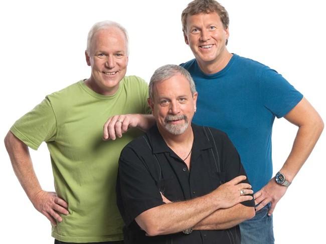 Mike Nelson (in blue): one of the brains behind MST3K and, now, RiffTrax.