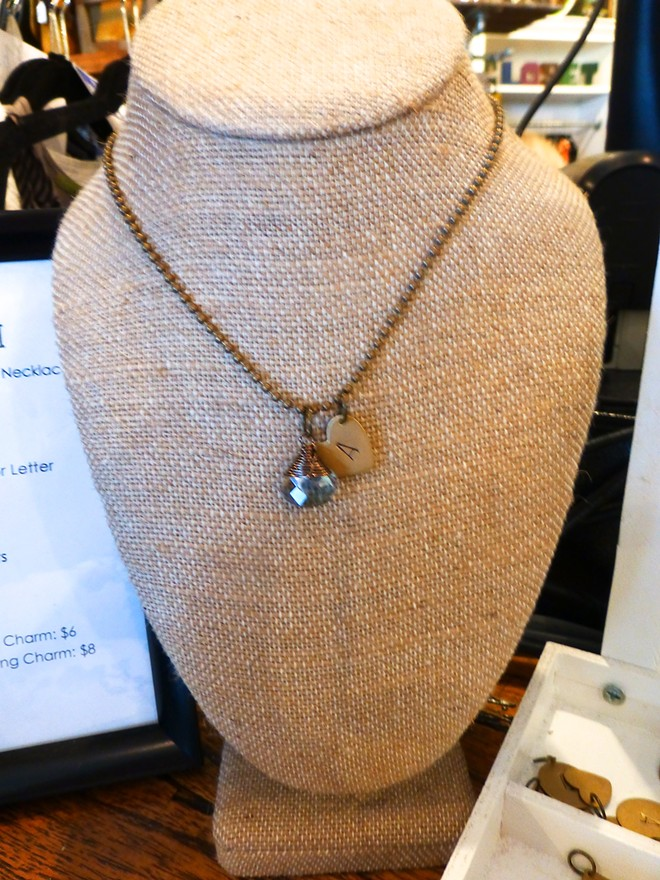 """Mishakaudi Jewelry """"Build-A-Neckalce."""" Pair your initial with any of these cute charms. - MADISON BENNETT"""
