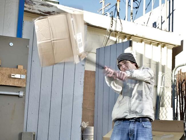 MJ beats boxes ... get it? - BEN TOBIN