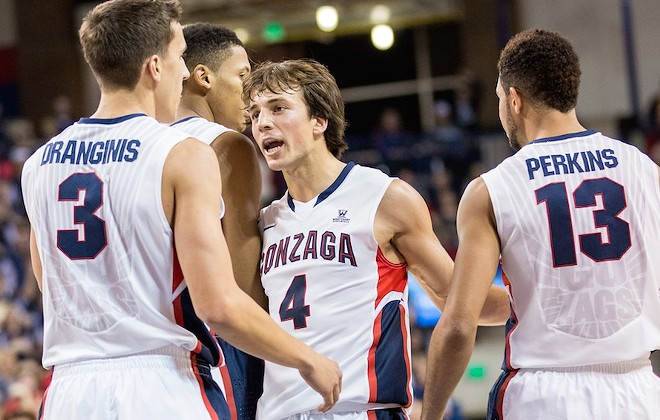 Kevin Pangos and the Zags are regular season conference champs — again. - RYAN SULLIVAN