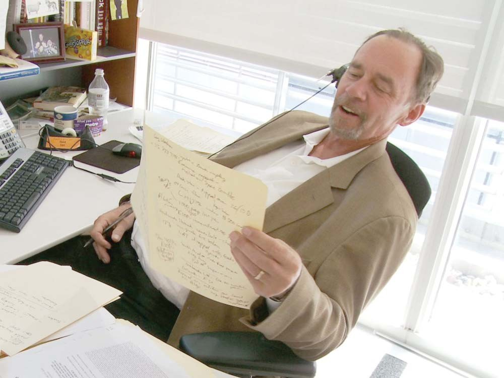 Most of the action centers on David Carr (pictured) and the Times' media desk.