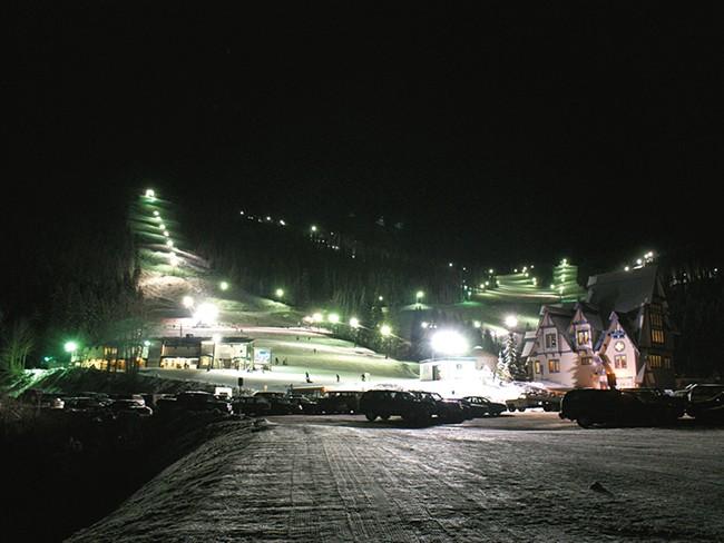 Mount Spokane boasts 15 runs lit for skiing at night. - HARVEY OLSON
