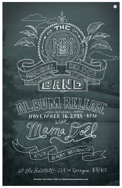 The Marshall McLean Band album release show will now be at nYne instead of the Bartlett.