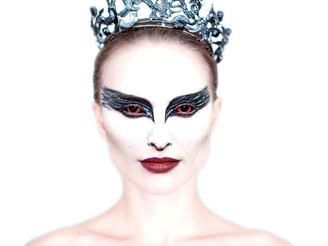 Natalie Portman as the Black Swan
