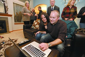 Michael Cannon at home as results come in. - YOUNG KWAK