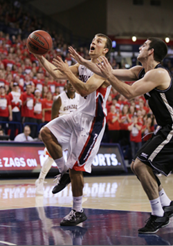 Kevin Pangos and the new-look Zags take on Colorado State tonight. - YOUNG KWAK