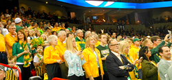 North Dakota State's fans couldn't bring home the win today in Spokane.