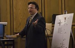 Defense attorney Richard Lee makes his closing argument. - JACOB JONES