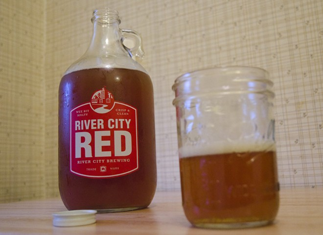 Fresh growler of River City Brewing beer from less than a mile down the road. - JACOB JONES