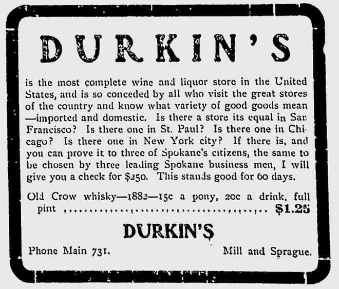 1904 advertisement in the Spokane Chronicle.