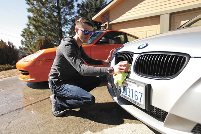 Nicholas Newell, a college student, runs a car detailing business and doesn't plan to sign up for health insurance. - YOUNG KWAK