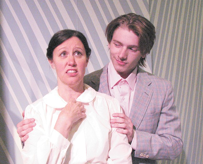 Nicole Walker and Jason Young star in The Underpants, written by Steve Martin.