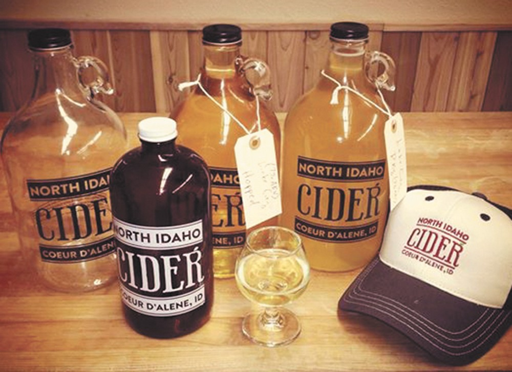 North Idaho Cider comes by the glass or the growler.