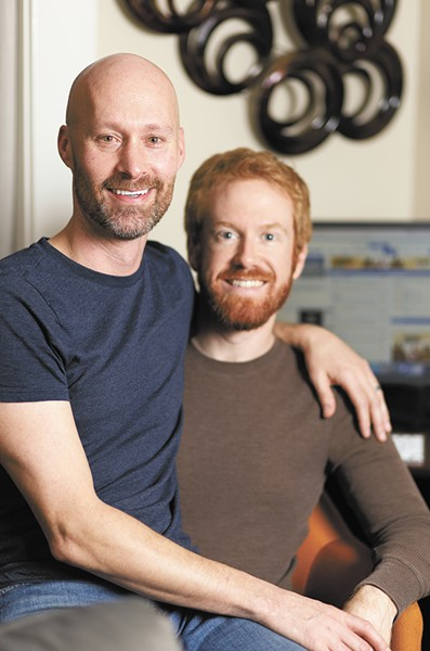 Now married, Tim Forrester (left) and Kyle Richardson met online. - YOUNG KWAK