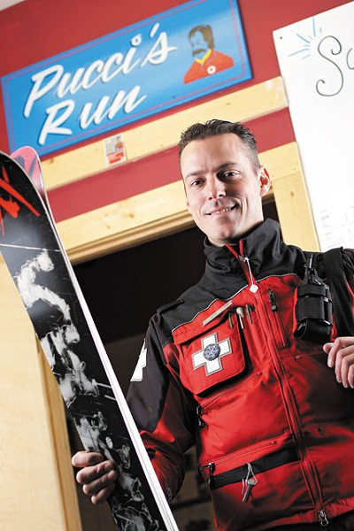 Our group has worked together 20, 30, 40 years, says Schweitzer Ski Patrol Captain Jonah Pucci, it makes the rest of us want to keep getting better. - YOUNG KWAK