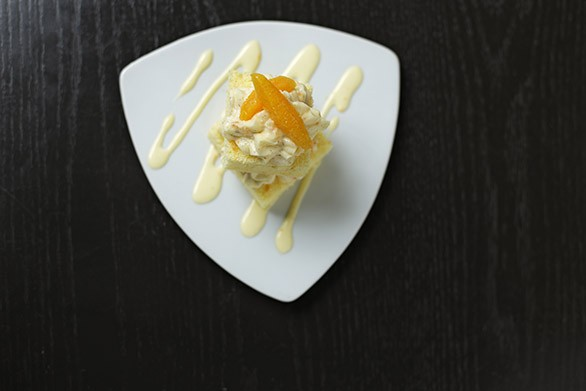 Orangesicle cake at Clover. - YOUNG KWAK