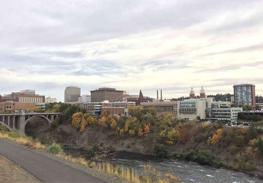 Despite the lingering 80-degree weather, it's a good time to check out the fall colors along the Spokane River. - JACOB JONES