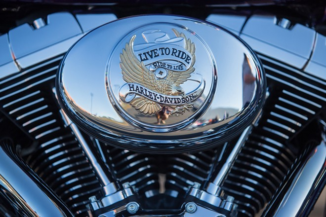 Over 1,600 riders registered their bikes at Lone Wolf Harley Davidson for the Pacific Northwest HOG Rally. - MATT WEIGAND