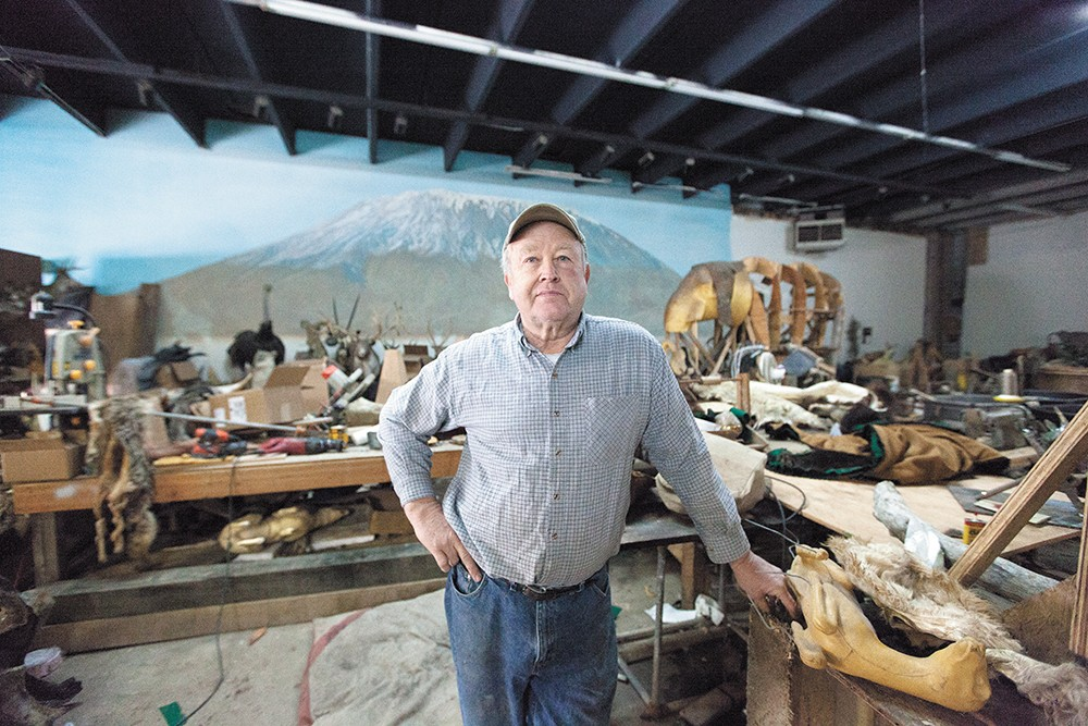 Owner Dave Drury at Knopp Taxidermy. - YOUNG KWAK