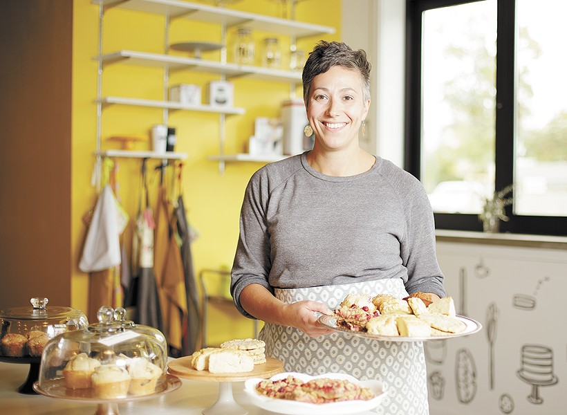 Owner Mika Maloney at Batch Bakeshop's new store in Spokane's West Central neighborhood. - YOUNG KWAK