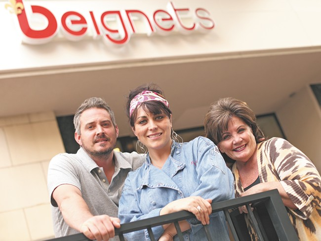 Owner Ryan Sowards (left), chef Justina Panther (center) and owner Judie Sowards saw Beignets close after just three months in business. - YOUNG KWAK