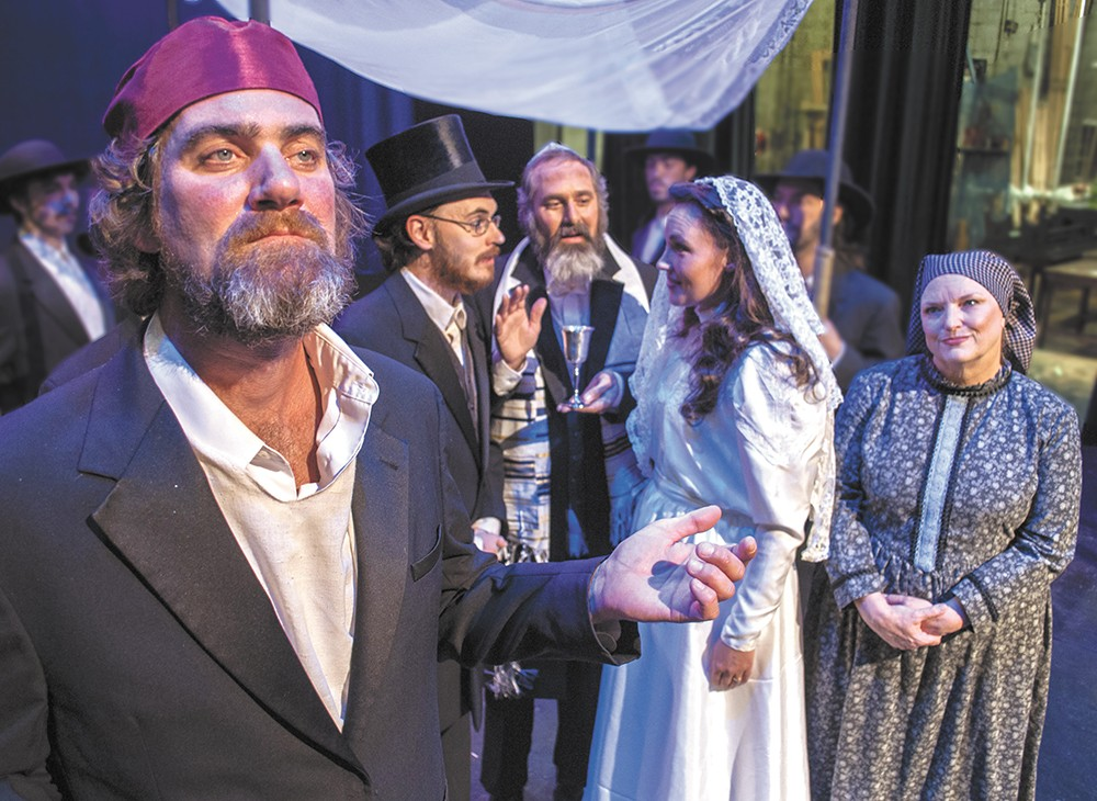 Patrick McHenry-Kroetch (left) play the lead role of Tevye in the Civic's Fiddler on the Roof. - SARAH WURTZ