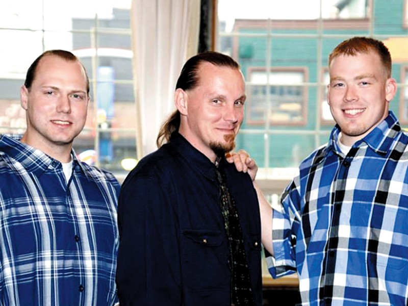 Paul Statler, Robert Larson and Tyler Gassman, when their convictions were tossed out in December.