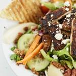 Pear gorgonzola salad from Laguna Cafe.