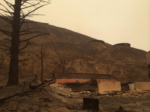 Fire in Pateros came down this hill burning at least 15 homes. - SCOTT LEADINGHAM