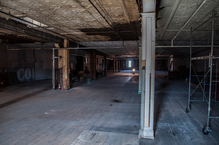 Construction workers have told Dania's employees that strange things have been happening on the fourth floor, such as lights being turned off when no one else reportedly has been around. - SARAH WURTZ