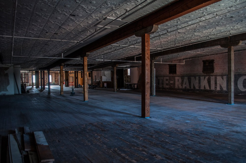 Click To Enlarge Old Tin Panels Cover The Ceiling Of The Fourth Floor. The  Building Was Originally Constructed