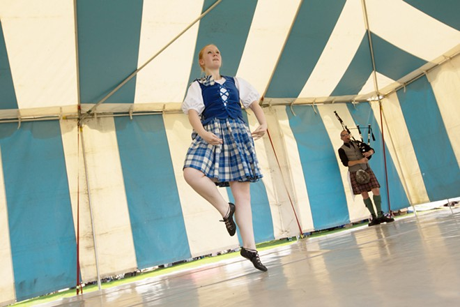Dance student instructor Emily Fields dances the Blue Bonnets. - YOUNG KWAK