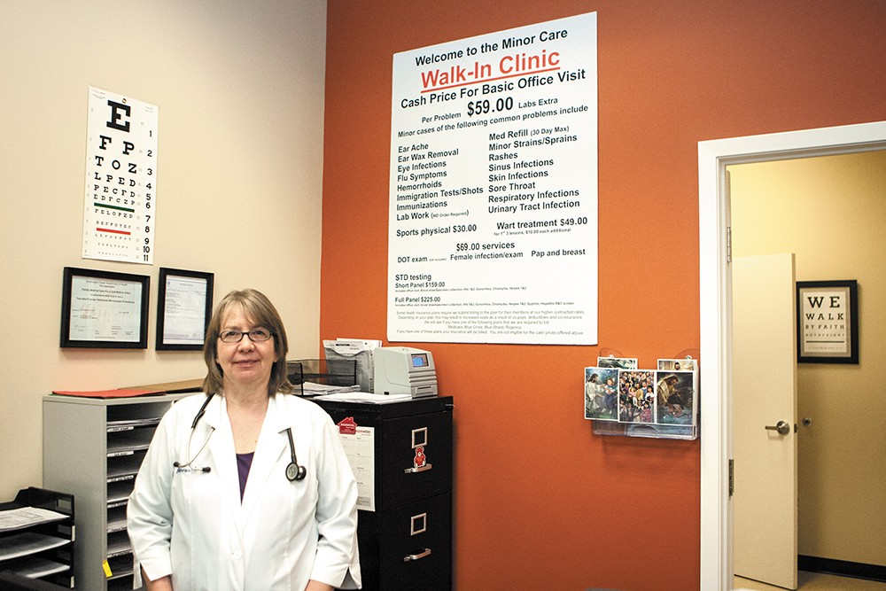 Physician Assistant Rita Warner offers care for minor conditions at the Walk-In Clinic in Spokane Valley. - MEGHAN KIRK