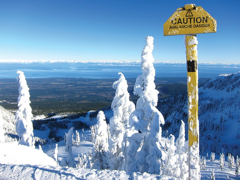 Read the signs where you are skiing or riding - they are there for a reason.