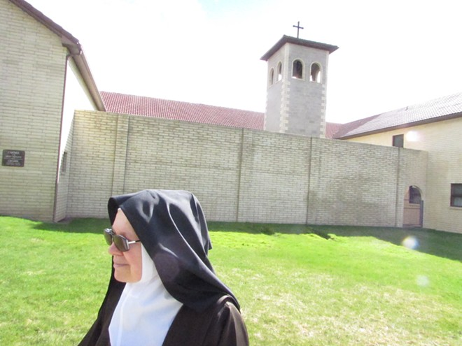 Sister Marie Joseph says she spent 28 years, seven months and seven days cloistered in this monastery and one in Belgium. After leaving for health reasons, she is no longer cloistered. - DANIEL WALTERS PHOTO