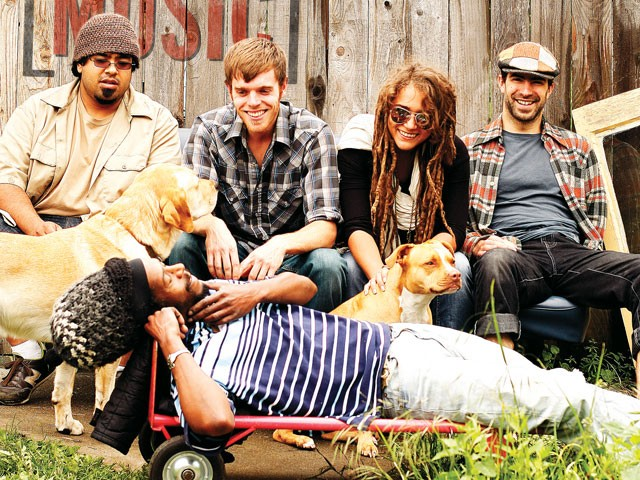 Real Life Rockaz (clockwise from top left): Paul Flores, Zac Fawcett, Olivia Kintzele, Jimmie Denny, Juan Parris - YOUNG KWAK