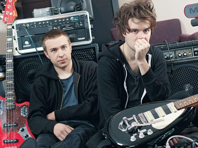 Reverb's bassist/keyboardist Alex Morrison, left, and guitarist/keyboardist/vocalist Adam Breeden - YOUNG KWAK