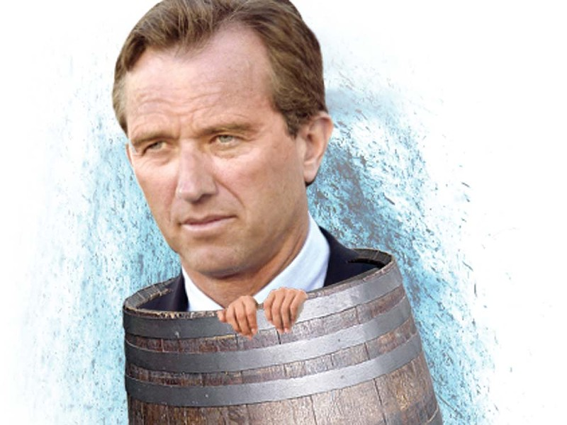 RFK Jr. will do anything to save the Spokane River. - ILLUSTRATION BY CHRIS BOVEY
