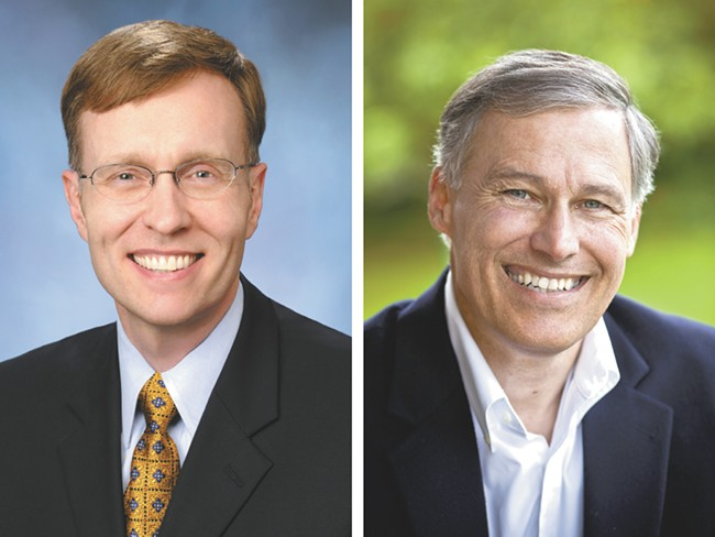 Rob McKenna, left, and Jay Inslee have sparred over tax returns.