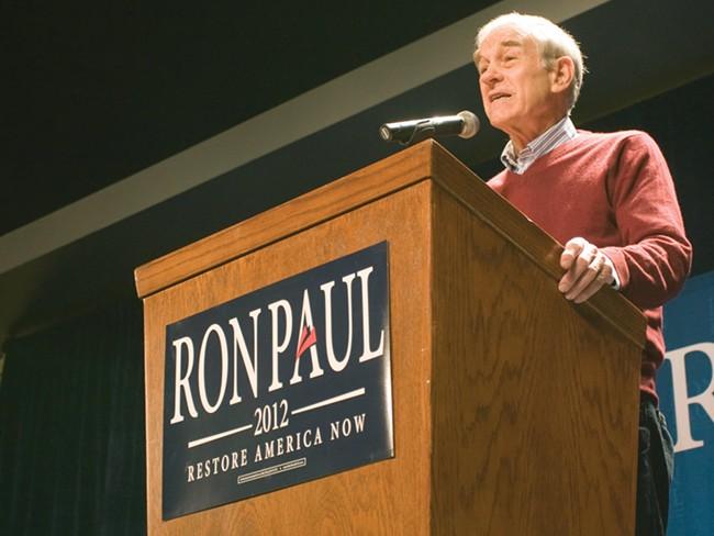 Ron Paul spoke in Spokane Friday night. - JEFF FERGUSON