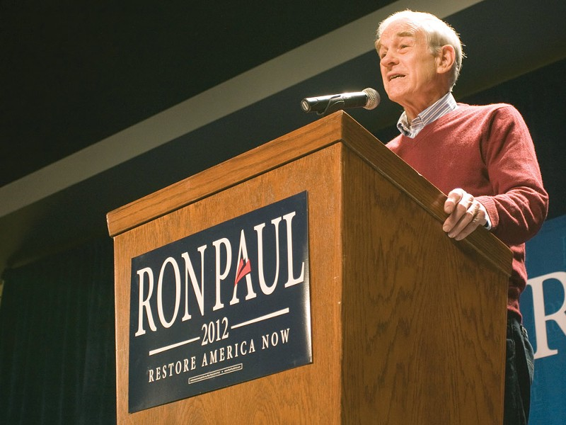 Ron Paul spoke in Spokane Friday night. - JEFF FERGUSON