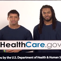 Richard Sherman and Russell Wilson want you to get health insurance
