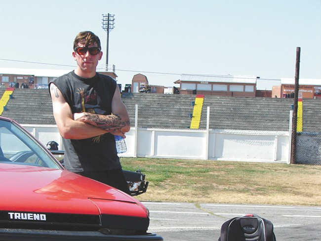 Ryan Bourgard is part of a group of a dozen other drift racers in the region who call Stateline Speedway home. - CARRIE SCOZZARO
