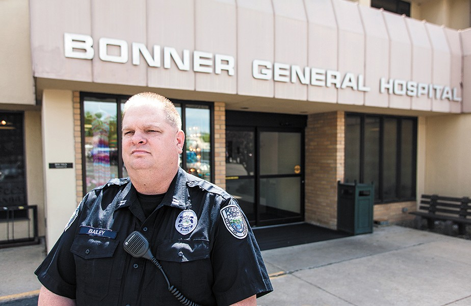 Sandpoint Police Capt. Rick Bailey says he often pulls officers off other duties to wait with mental health patients at Bonner General Hospital. - MIKE MCCALL