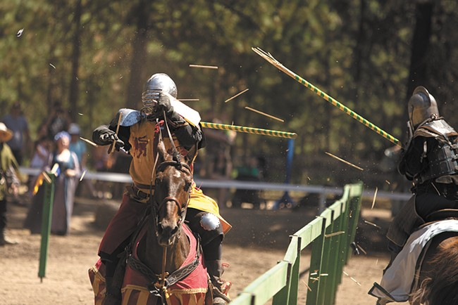 Scene from this year's Northwest Renaissance Festival in Nine Mile Falls. - YOUNG KWAK