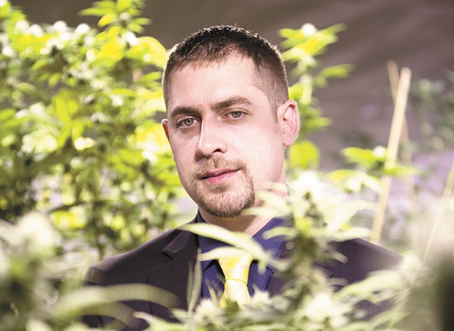 Sean Green, 32, owns medical marijuana dispensaries in Spokane and Seattle and received the state's first recreational marijuana producer/processor license. - YOUNG KWAK