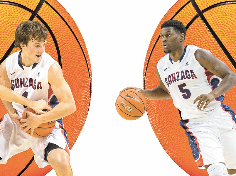 Seniors Kevin Pangos (left) and Gary Bell Jr. are set to lead one of the most talented Gonzaga teams ever. - RYAN SULLIVAN