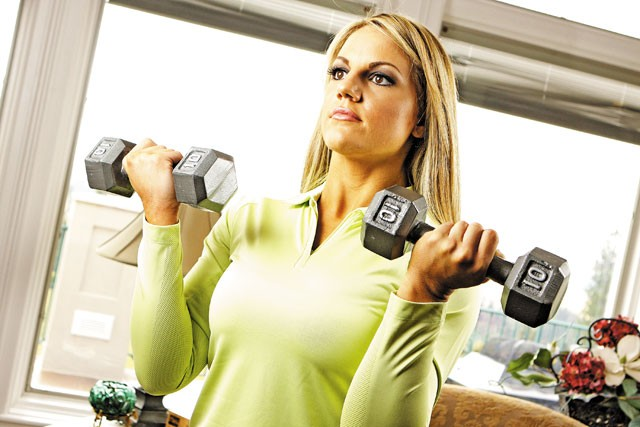 Shannon Simmons does a few of the exercises you can try at home.